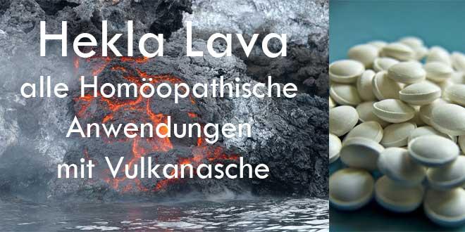 Hekla lava wirkt beschleunigend auf den Entzündungsprozess